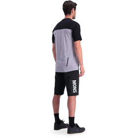 Mons Royale Redwood Enduro V-Neck T-Shirt Herre black/grey marl